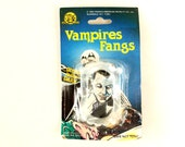 Vintage Halloween Vampires Fangs Collectible in Original Package by Franco Novelty (c.1990s) - Halloween Decor, Collectible Toy, Altered Art
