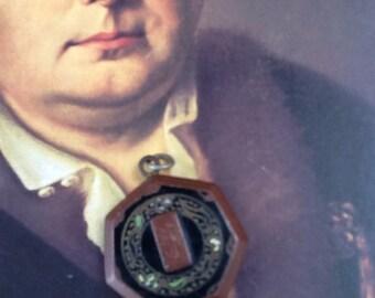 Antique enamel photo locket
