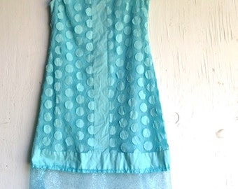 SALE adrianna papell dress, teal dress, aqua party dress, formal, party tulle, dots, bridesmaid, summer wedding, easter