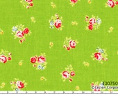 Flower Sugar Spring 2013 by Lecien - Tiny Tossed Roses on Green 30750 60