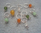Pumpkin patch - stitch markers