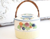 Vintage Biscuit Jar Cracker Jar With Handle