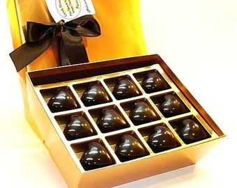 Creek House Double Dark Heart Truffles, with Dairy, 2 Sizes, Free Shipping