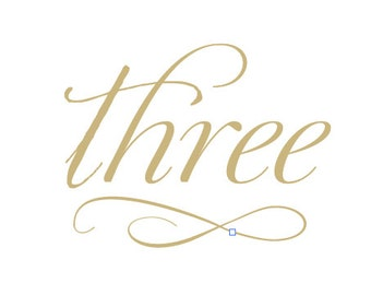 Classic Calligraphy Matte Gold Wedding Table Number Set 5x7 Signs