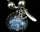 Kate Daniels Inspired Charm Necklace - Book Quote Pendant - Kate & Curran - As You Wish - Themed Jewelry - Author Swag - Urban Fantasy