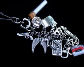 Demon Hunter Inspired Bag Charm - Angels - Ghost Hunter - Fantasy - Bag Clip - Purse Jewelry - Zipper Pull - Keychain - Geekery - Paranormal