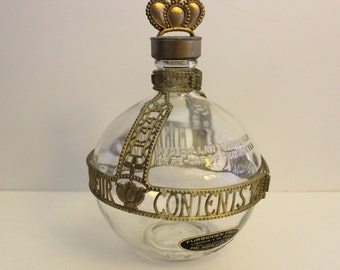 Jacquin's Forbidden Fruit Rare Decorative Vintage Glass Liquor Bottle Decanter