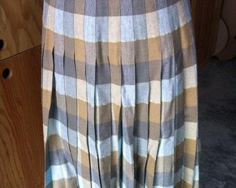 pendleton pleated reversible skirt