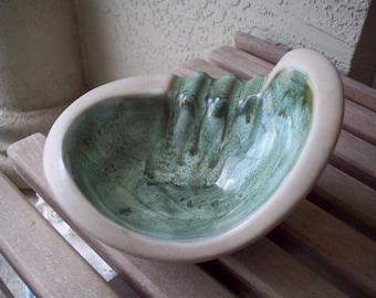 Sage Green Glazed Ashtray