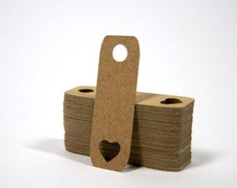 Heart Kraft Mini Tag, Set of 40