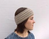 Wool Headband, Wool Ear Warmer, Beige Headband, Light Brown Headband,Spring Trend, Gift for Her, Winter Fashion