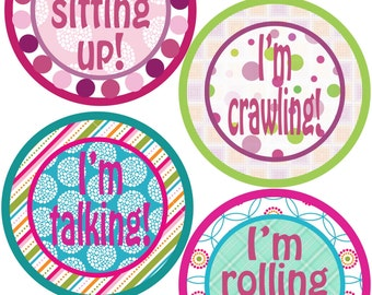 My First Stickers for Baby, My First Stickers  - Boutique Chic -  Baby My First Stickers -Baby Shower Gift - Baby Girl