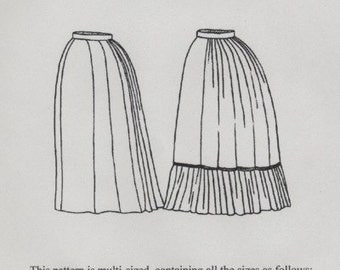 TV201 - Truly Victorian #201, 1870s Underskirt Sewing Pattern