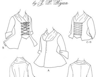 JPR11 - JP Ryan #11, 18th Century Ladies' Jackets Sewing Pattern