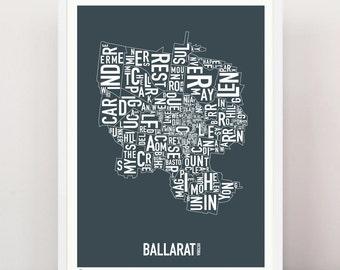 BALLARAT - Suburban Type Print