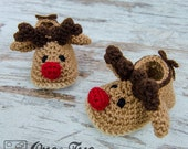 Reindeer Booties - PDF Crochet Pattern - Baby sizes ( 0-3, 3-6, 6-12 months ) - Shoes Baby Newborn Slippers