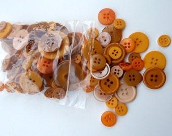 Orange 50g Button Bag