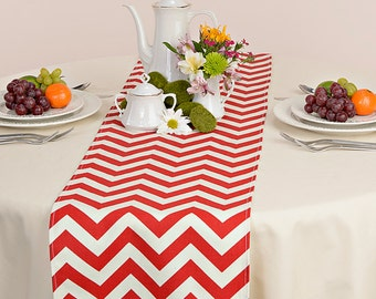 Choose your Table Runner, Red Chevron Table Runners for Wedding Decor, Birthday Parties, Party Decor, Holidays