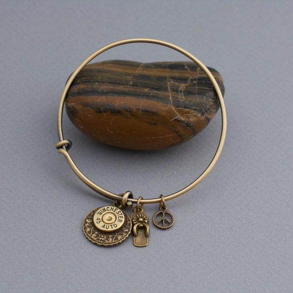 bullet jewelry bullet bracelet winchester 45 auto