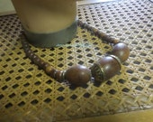 Wooden Bead Necklace - Found In France