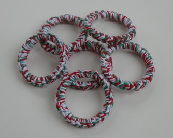 Crochet Ring Cat Toys- PEPPERMINT Set of 6
