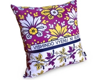 African Khanga Fabric Cushion