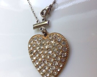 All That Glitters Heart Necklace