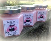 Pink Ladybug  Birthday Favor Candle, Lady Bug Themed Party Favor, Soy candle