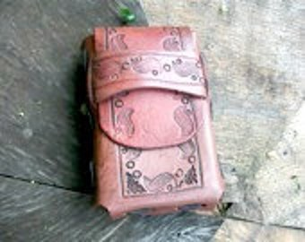 Leather Cigarette Case that can be used for cigarettes, a camera, or phone. A great boyfriend gift or birthday gift.