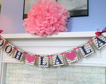 Bridal Shower Banners, Ooh La La Banner, Bachelorette Party Decor, Bridal Shower Decorations,Lingerie Party , You Pick the Colors