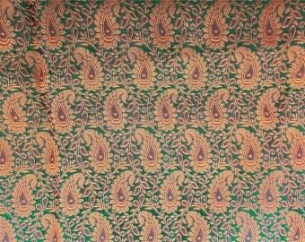 Half yard of green indian silk brocade