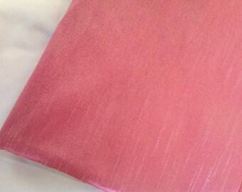 One yard of  pink dupioni silk blend