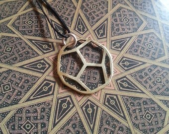 Platonic Solid Pendant - Dodecahedron - Brass Symbols range - Geometry - Handcrafted