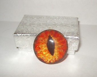 orange gold eyeball anatomy taxidermy loose cabochon glass tile evil eye repellent ooak for wire wrapping