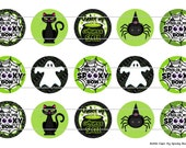 """15 My Spooky Bow Halloween 1 Digital Download for 1"""" Bottle Caps (4x6)"""