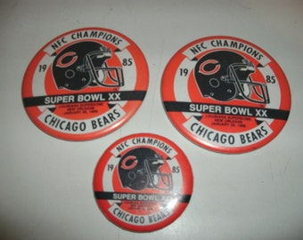 Collectible Super Bowl XX Chicago Bears 1985 Pins
