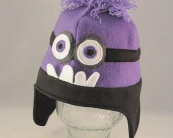Purple Monster Guy Fleece Hat