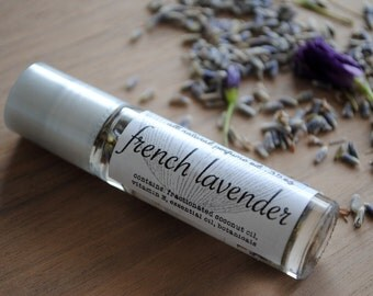 All Natural Perfume Oil with Botanicals, French Lavender and Lavender Flower Buds