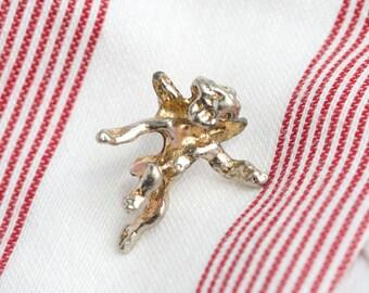 Tiny Cherub Tie Pin - Vintage Angel tie Tac
