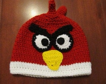 Crochet Hat Pattern Angry Bird : Popular items for bird crochet hat on Etsy