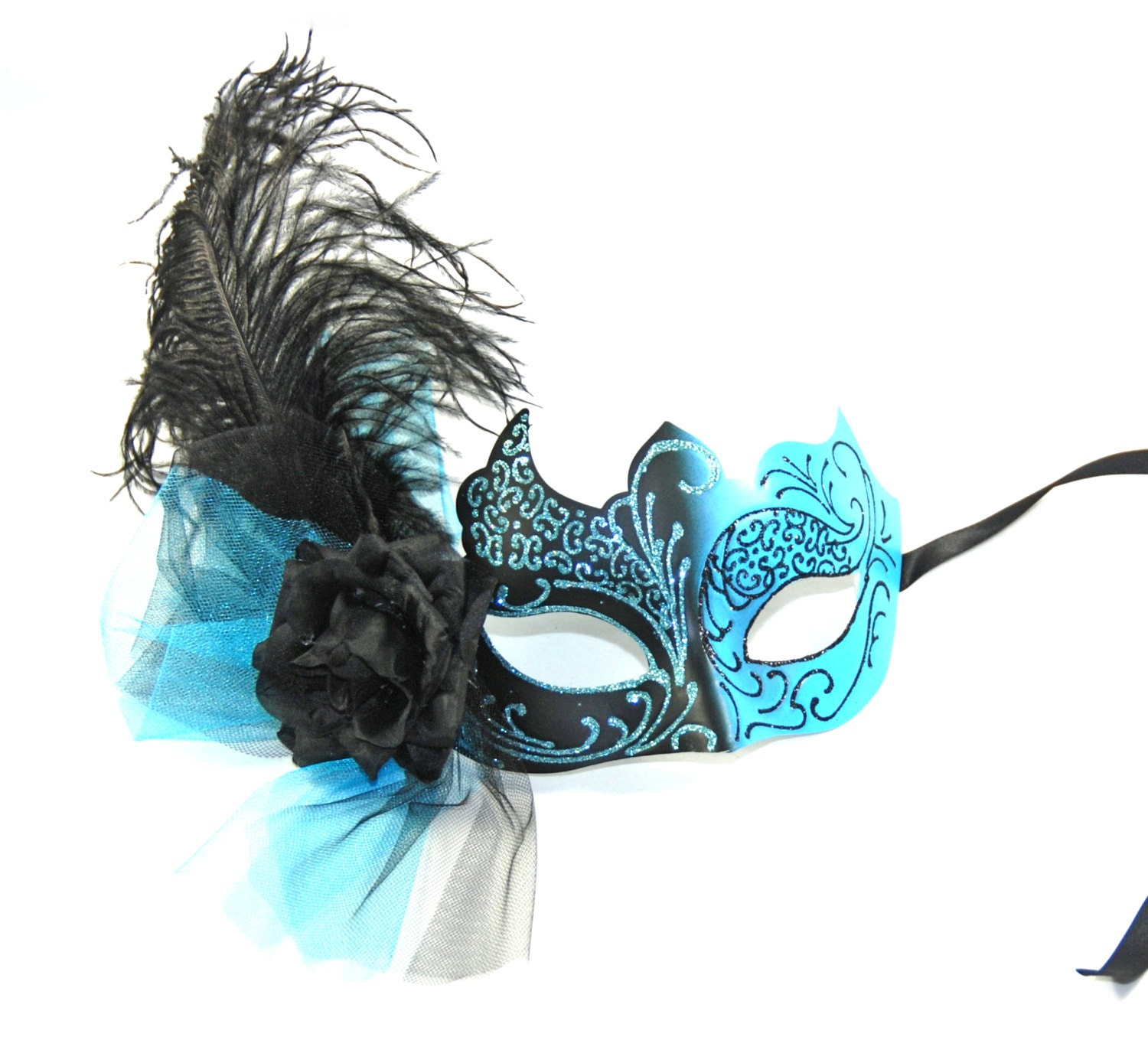 Gallery For gt Blue Female Masquerade Masks