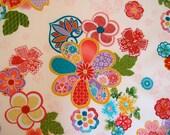 Japanese cherry blossom fabric on cream Kona Bay - Sakura Collection (1 yard)