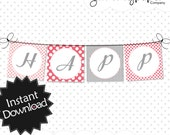 Editable Sweet Princess Party Banners - Instant Download PDF Template - Square Banners .. sp01