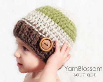 CROCHET PATTERN Pine Lodge Beanie (5 sizes included from newborn-adult) Instant Download