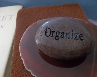 Organize Engraved Energy River Rock