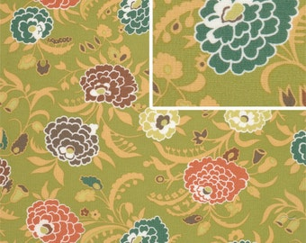 11217 - Amy Butler Gypsy Caravan collection PWAB082 Gypsy mum in pesto color  - 1 yard