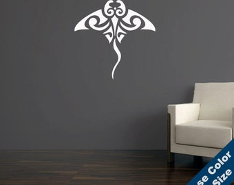 Tribal Stingray Wall Decal - Vinyl Sticker - Free Shipping