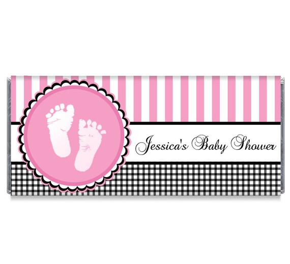 Sweet Baby Feet Pink Baby Shower Favors Baby Feet Baby Shower