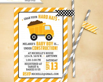 Under Construction Baby Shower Invitation Printable