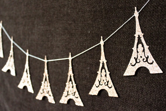 Items similar to eiffel tower garland paris decoration for Art and decoration france